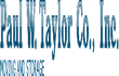 Paul W Taylor Co Inc